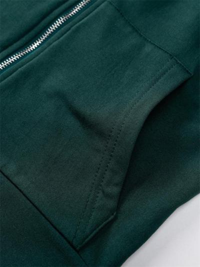 Sport Wear 2 Piece Set Zipper Long Sleeve Solid Color Tops + Elastic Waistband Pants
