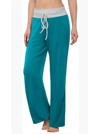 Fashion Casual Loose Bind Up Solid Color Pants