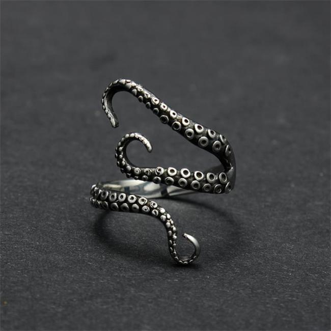 Vintage Punk Octopus Ring