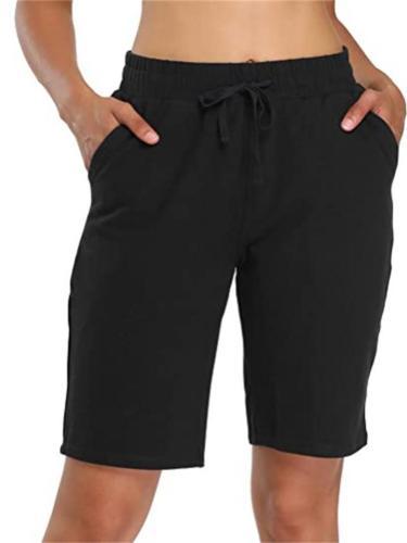 Solid Color Belt Elasticated Close-Fitting Pocket Shorts