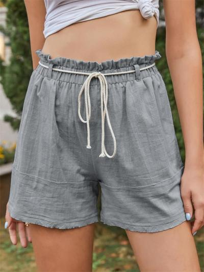 Fashion Solid Color Casual Cotton Shorts