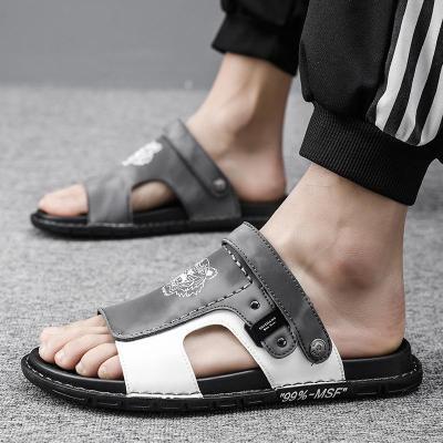 Mens Casual Soft Non Slip Patchwork Sandals