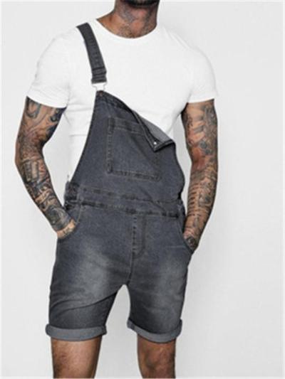 Mens Fashion Casual Denim Jumpsuits