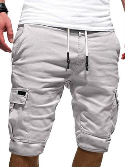 Summer Casual Workout Knee Shorts With Pockets