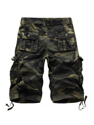 Mens Outdoor Casual Cargo Camo Shorts With Pockets