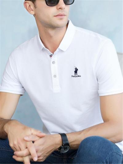 Business Slim Fit Knit Fashion POLO Short Sleeve Shirts