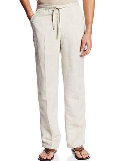 Mens Loose Cotton Comfy Casual Pants