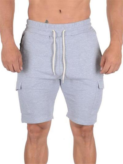 Mens Loose Straight Breathable Training Workout Knee Shorts
