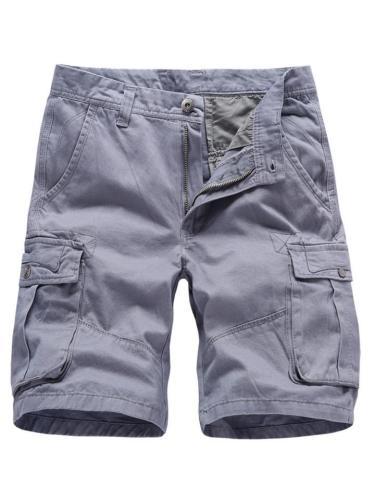 Mens Casual Multi-Pockets Outdoor Cotton Cargo Shorts