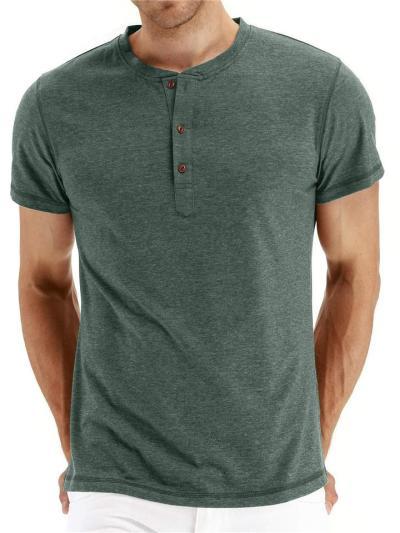 Mens Solid Color Comfy Short Sleeve T-Shirts