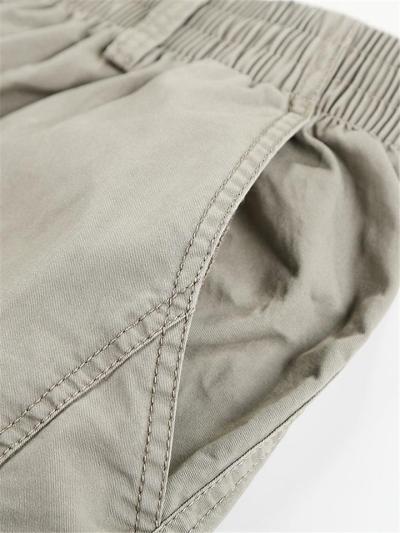 Mens Casual Loose Comfy Pure Color Cargo Pants