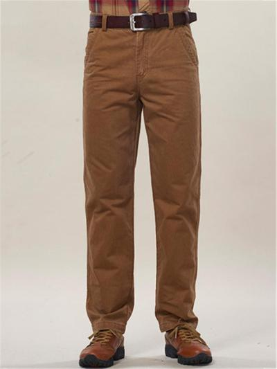 Mens Casual Business Warm Loose Straight Pants