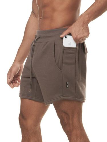 Mens Workout Pure Color Training Casual Shorts