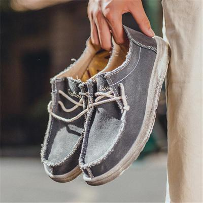 Mens Breathable Wearable Plus Size Casual Canvas Loafers