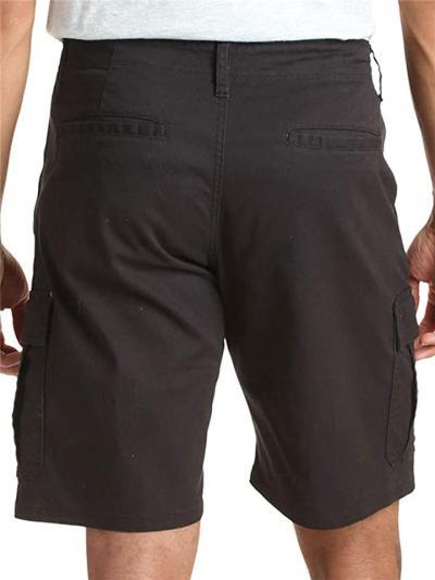 Mens Casual Plain Comfy Straight Knee Shorts