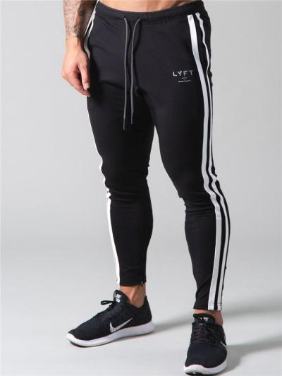 Mens Workout Training Ankle Pants WIth Stripes