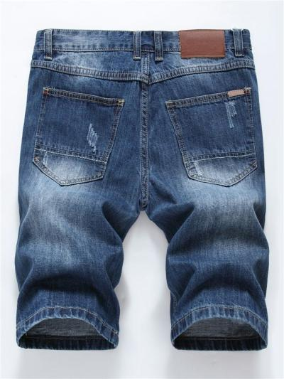 Mens Casual Fashion Distressed Knee Jeans
