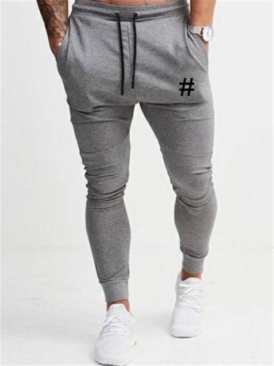 Mens Slim Fit Workout Print Casual Pants