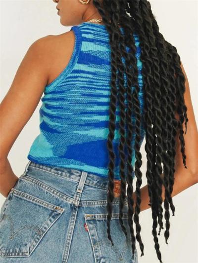 Colorful Sleeveless Round Neck Slim T-Shirt