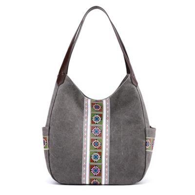 Printed Large-Capacity All-Match Retro Canvas Handbag