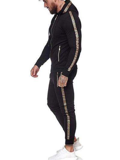 Mens Sports Fashion Personality Hooded Outwear+Pants