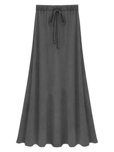 Fashion Modal Strap Solid Color Slim Skirt