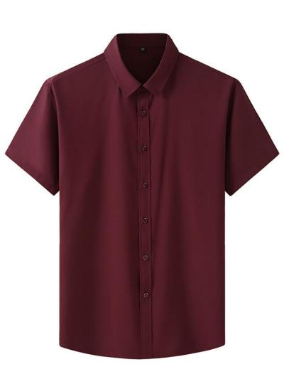 Mens  Moisture Wicking Lightweight Comfy Button Short Sleeved Shirts