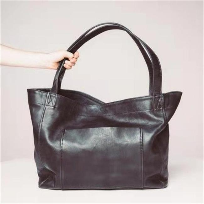 Retro Soft Leather Large-Capacity Handbag