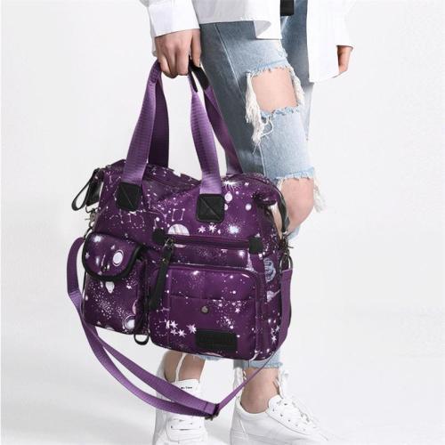 Casual Large-Capacity Star Printed Crossbody Bag