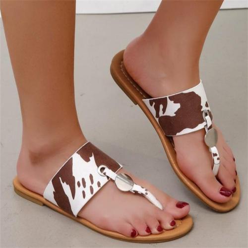 Lightweight Plus Size Leopard Print Casual Beach Sandals