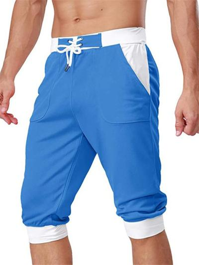 Mens Casual Patchwork Fashion Ankle Workout Pants