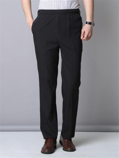 Mens Breathable Vertical Solid Color Comfy Casual Pants