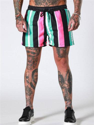 Mens Fashion Quick Dry Casual Contrast Color Shorts
