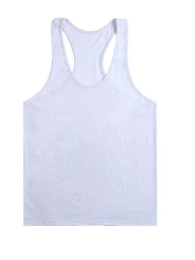 Mens Exercise Comfy Solid Color Vests