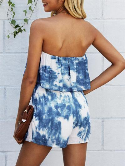Fashion Printed Off-The-Shoulder Jumpsuit