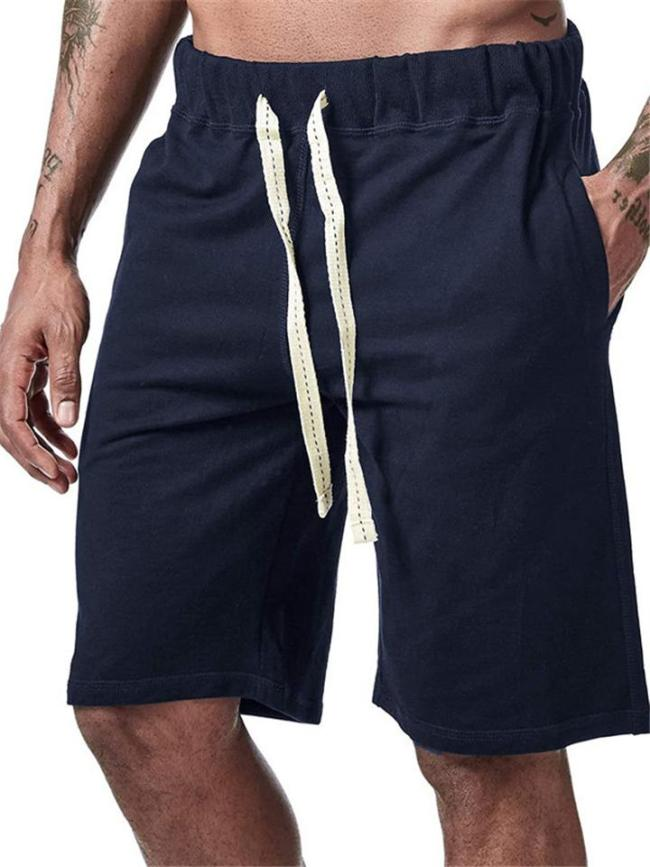 Mens Casual Loose Comfy Vertical Beach Knee Shorts