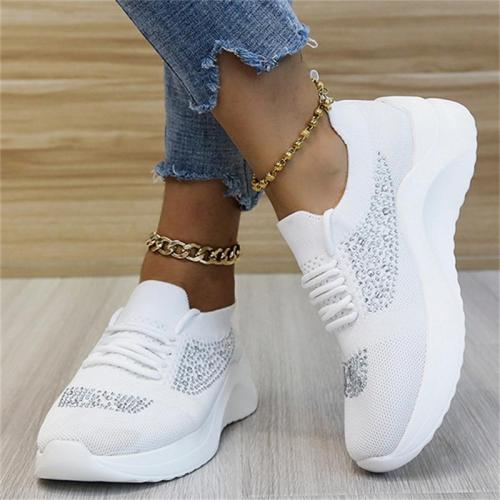 Lace Up Style Breathable Mesh Low-Top Fabric Upper Loafers