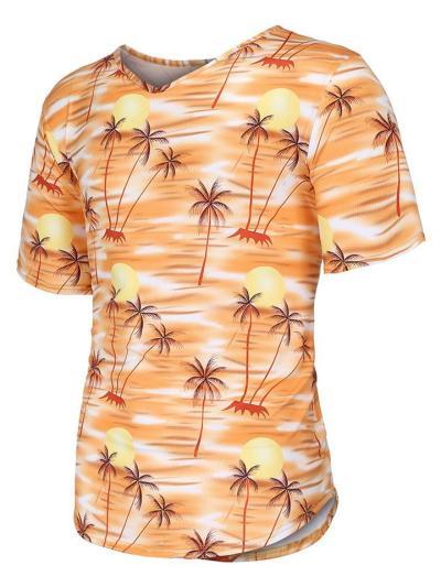 Mens Soft Print Short Sleeve T-Shirts