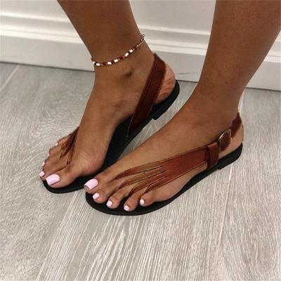 Plus Size Fashion Flip Flop Flat Heel Sandals