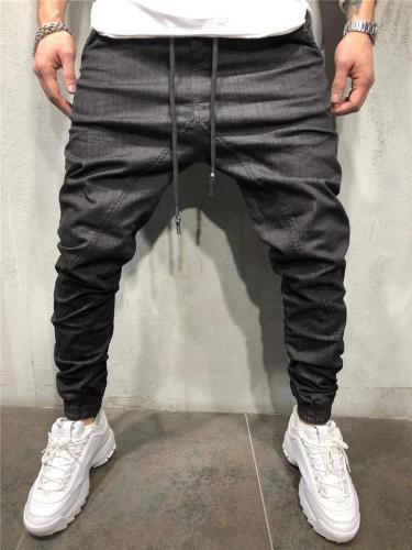 Mens Stylish Stitching Casual Workout Denim Pants