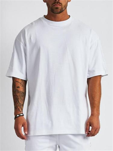 Loose Solid Color Short-Sleeved Breathable Sports T-Shirt