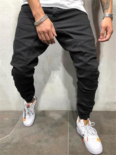 Mens Hip Hop Casual Ankle Pants With Side ZIppers