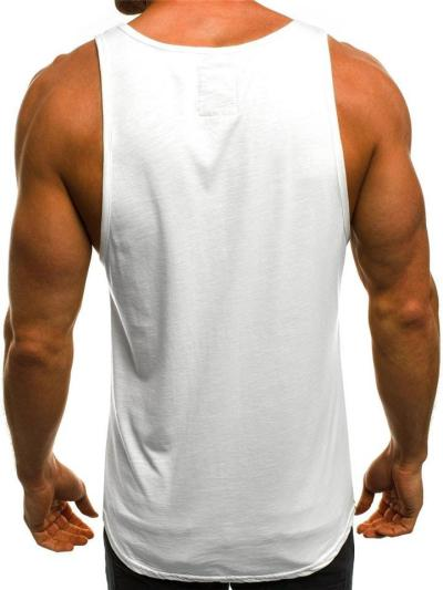 Mens Casual Fashion Exercise Comfy Print Vests