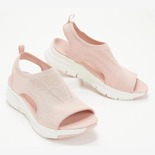 Casual Peep Toe Low Heel Solid Color Sandals