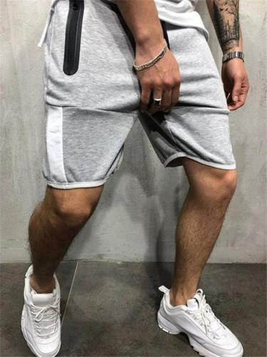 Mens Casual Slim Fit Comfy Patchwork Running Knee Shorts