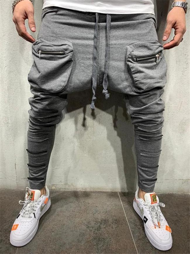 Mens Fashion Slim Fit Sweatpants With Pockets