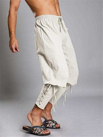Mens Hip Hop Breathable Personality Ankle Pants
