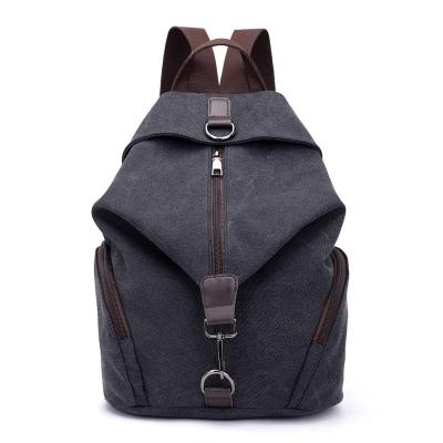 Casual Style Multi-Pocket Zipper Soft-Touch Canvas Durable Lightweight Backpack