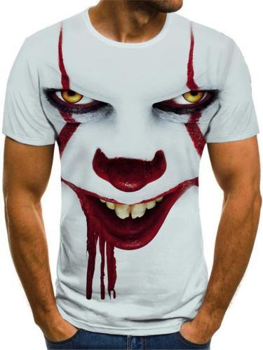 Mens Casual Fashion Comfy Crown Print T-Shirts