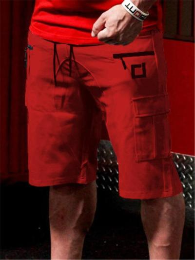Mens Comfy Sports Cotton Knee Shorts With Pockets